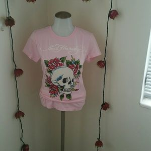 Ed Hardy Skulls and Roses Tee